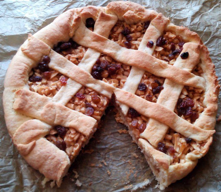Mřížkovaný jablečný koláč