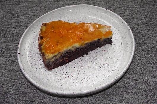 Čokoládovo-mandarinkový dort