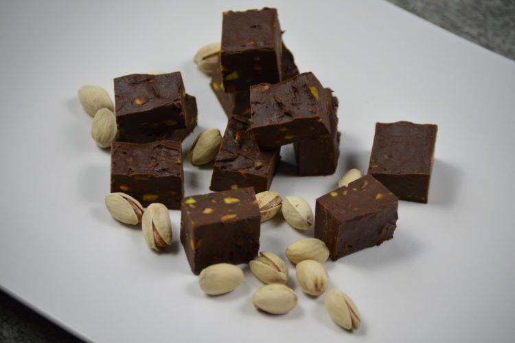 Čokoládové bonbony s pistáciemi
