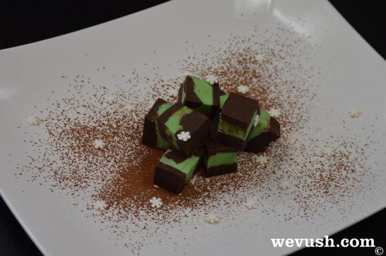 Čokoládovo-mátové karamely