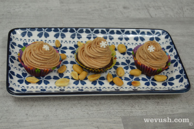 Arašídové cupcakes