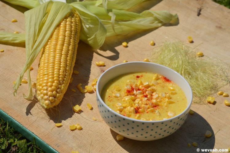 Letní kukuřičná polévka