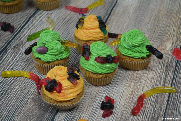 Halloweenské dýňové cupcakes