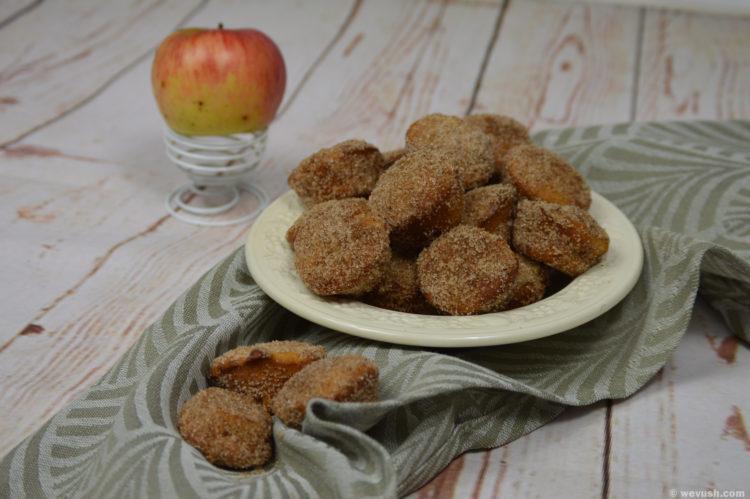 Pečené jablečné koblížky