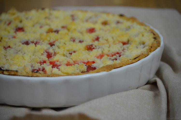 Jahodový koláč s tvarohem