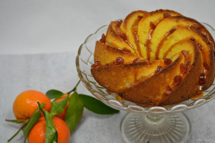 Mandarinková bábovka s karamelovým přelivem