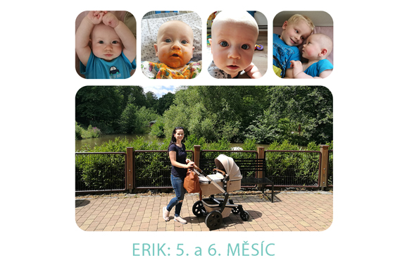 5. a 6. měsíc miminka: Erik